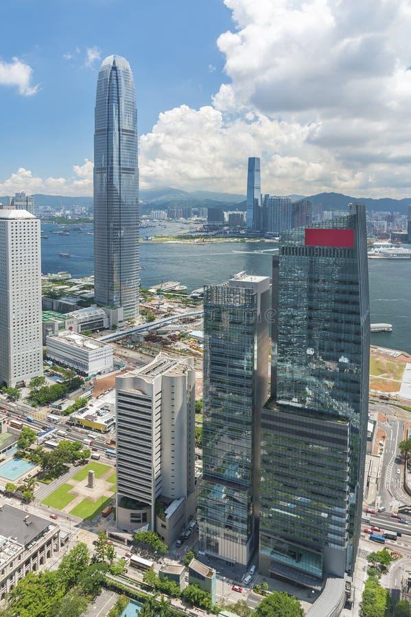 Downtown of Hong Kong city royalty free stock photography