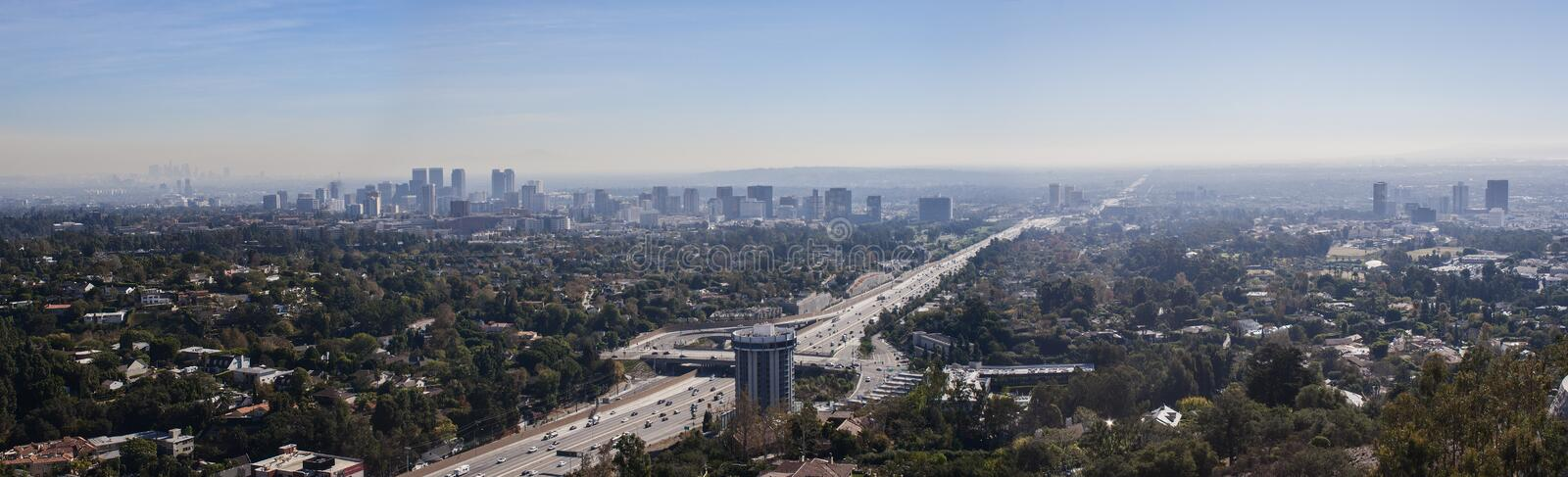 Aerial view of downtown Los Angeles. USA stock image