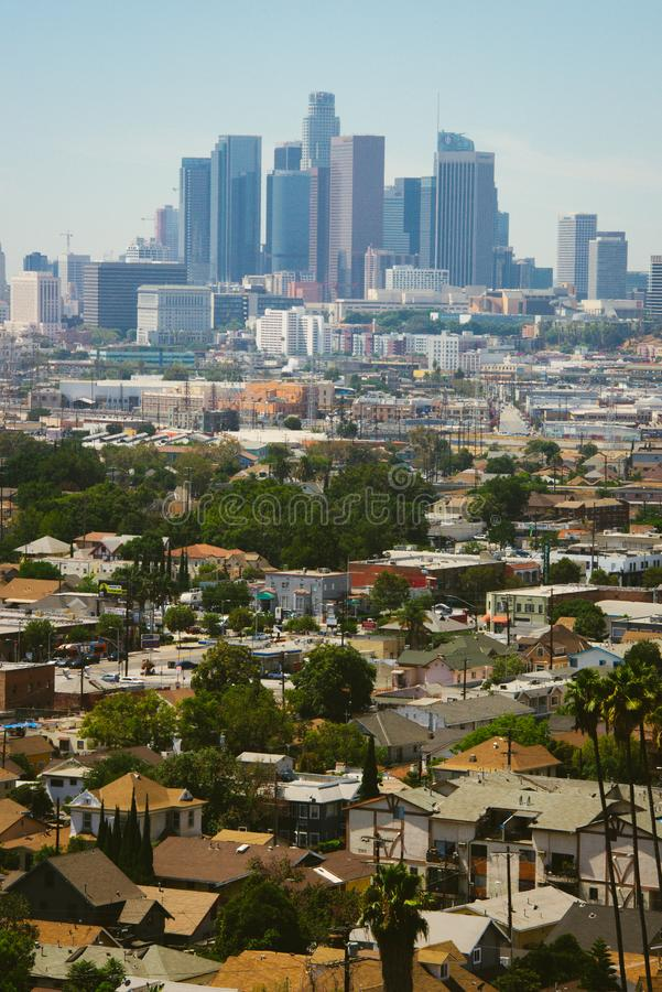 Aerial view of Downtown Los Angeles stock image