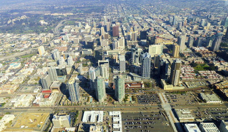 Aerial view of Downtown San Diego stock photography
