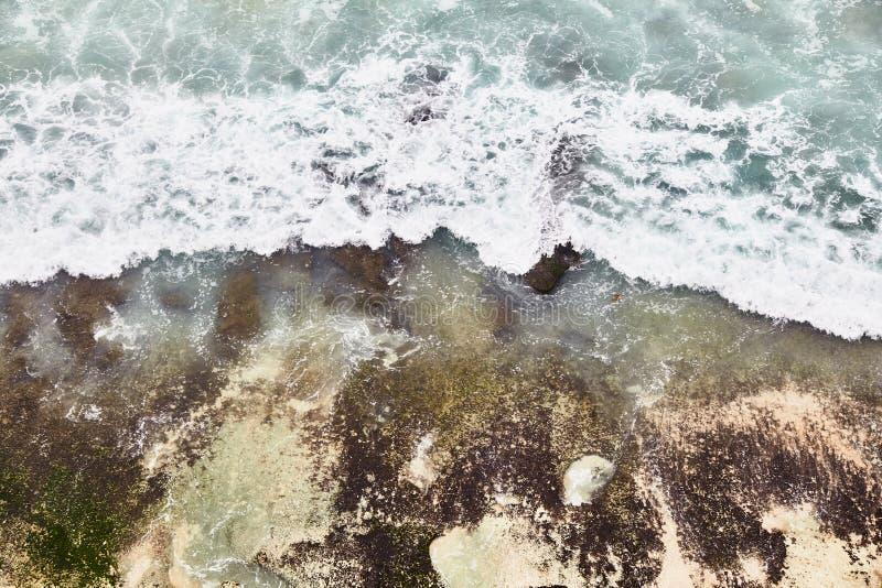 Dreamland beach. View from Uluwatu cliff. Bali, Indonesia stock photography