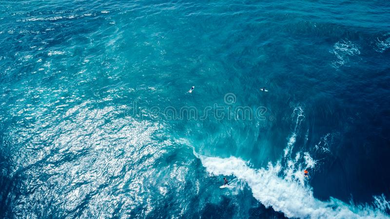 surfers paddling for catching waves stock image