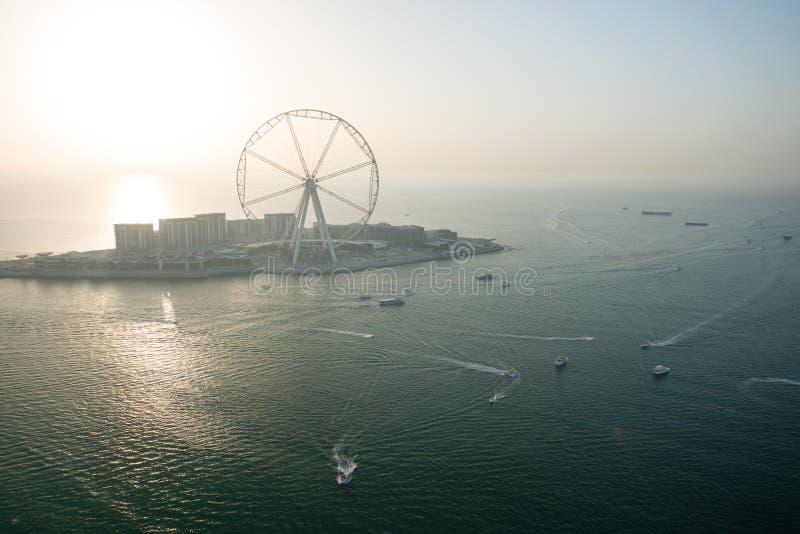 Aerial view of Dubai Eye royalty free stock image