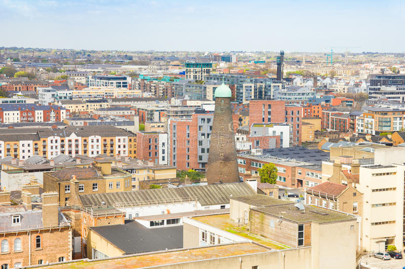 Aerial view of Dublin stock photo