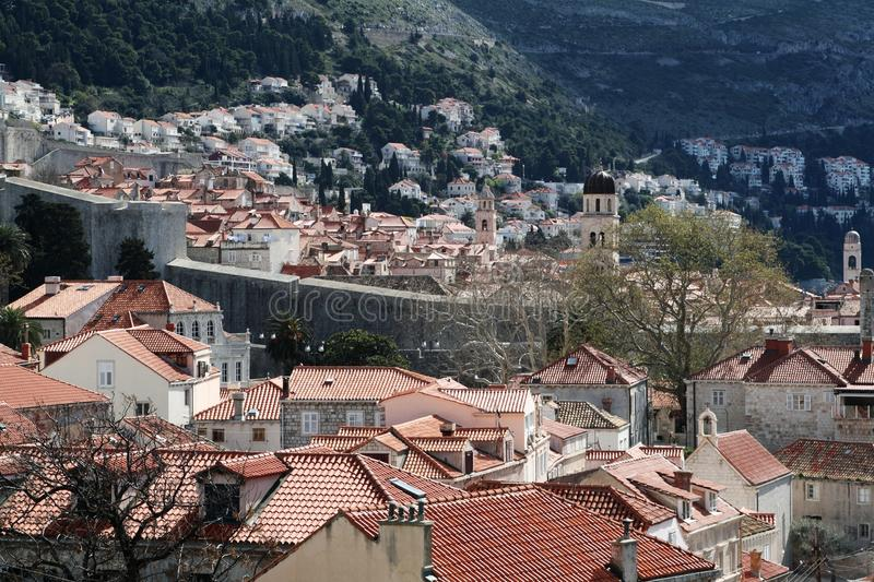 Download Aerial View of Dubrovnik stock photo. Image of outdoors - 24841422