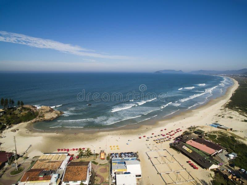 Aerial view Dunes in sunny day - Joaquina beach - Florianopolis - Santa Catarina - Brazil. July 2017. royalty free stock photography