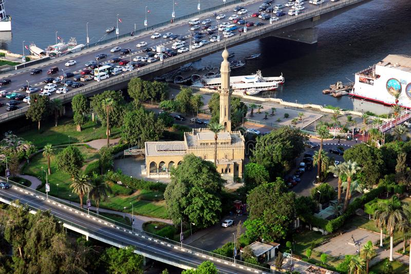 Aerial view of egypt cairo stock photography