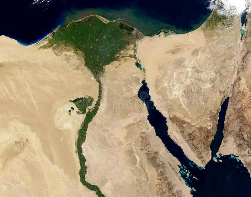 Aerial view of Egypt stock images