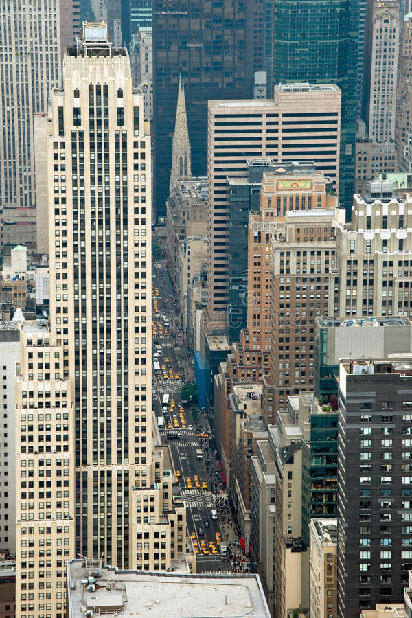 Aerial view from Empire State Building in New York stock image