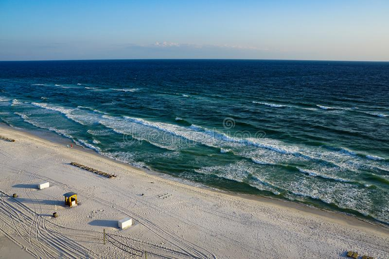 Aerial view of an empty beach royalty free stock image