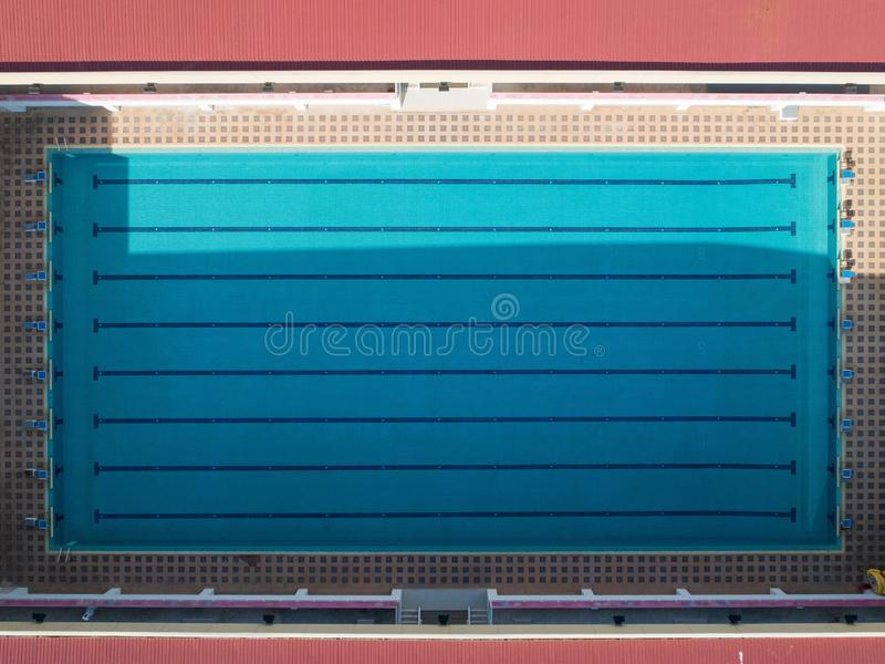 aerial view of a empty swimming pool in the afternoon..... stock images