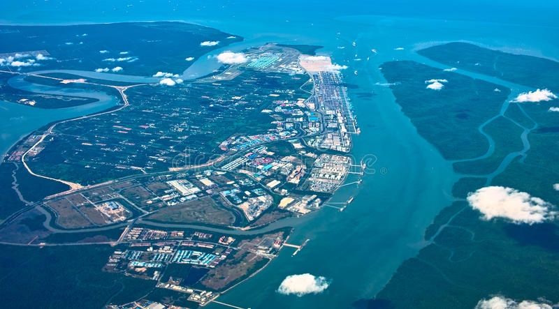 Aerial View of Estuary. Malaysia royalty free stock photography