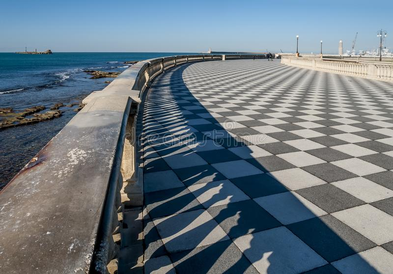 Aerial View of the famous Terrazza Mascagni in Livorno, Tuscany, Italy. Europe stock photos