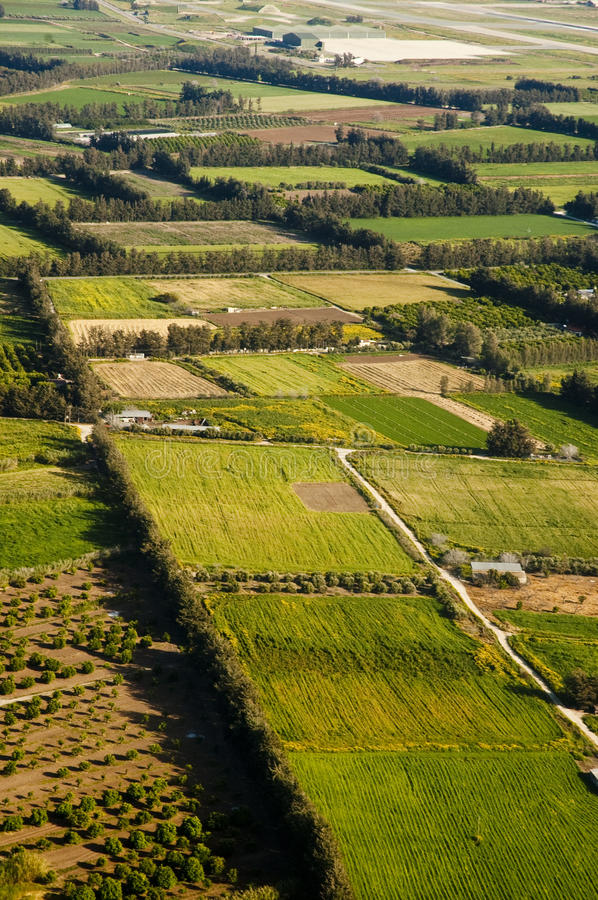 Download Aerial view of farm fields stock image. Image of aerial - 15178225