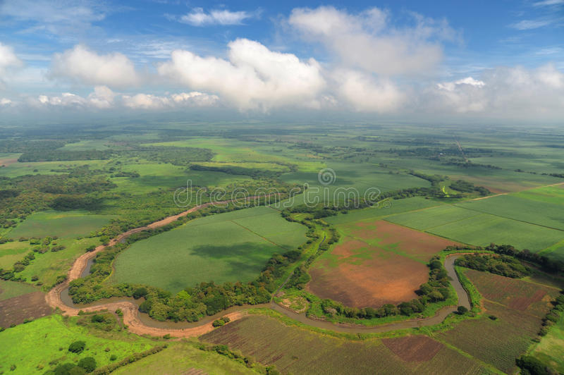 Download Aerial View Of Farm Fields In Costa Rica Stock Photo - Image of river, altitude: 40334860