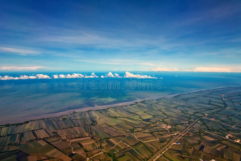 Download Aerial view of farmland stock image. Image of high, blue - 21094423