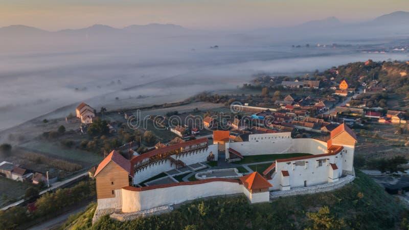 Feldioara Fortress. Brasov, Romania stock image