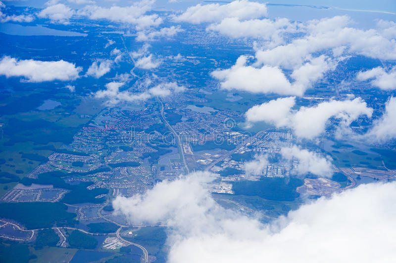Aerial view of florida stock photo