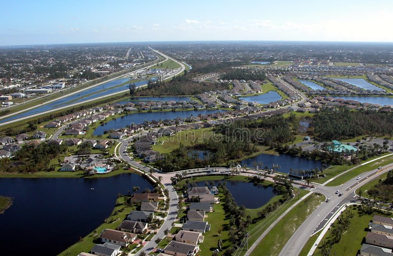 Aerial View Of Florida Highways stock image