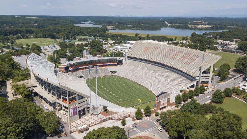 Aerial View Of Frank Howard Field At Clemson Memorial Stadium stock image