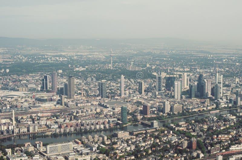 Frankfurt am Main, Germany. Aerial view of Frankfurt am Main, Germany royalty free stock image