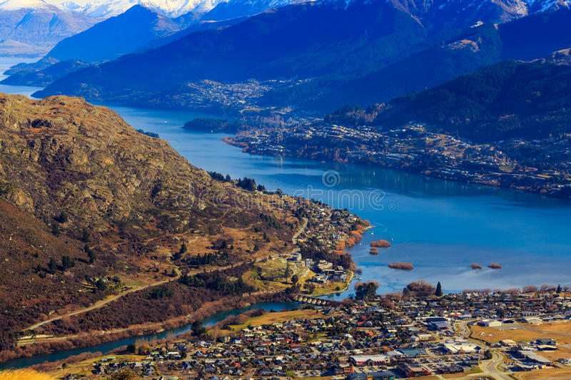 Aerial view of Frankton royalty free stock images