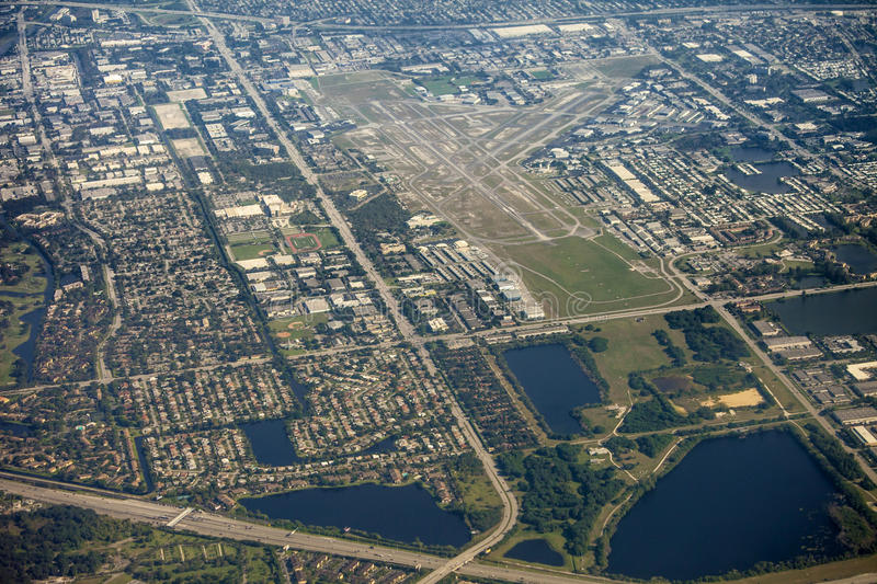 Aerial view of ft lauderdale, florida royalty free stock images