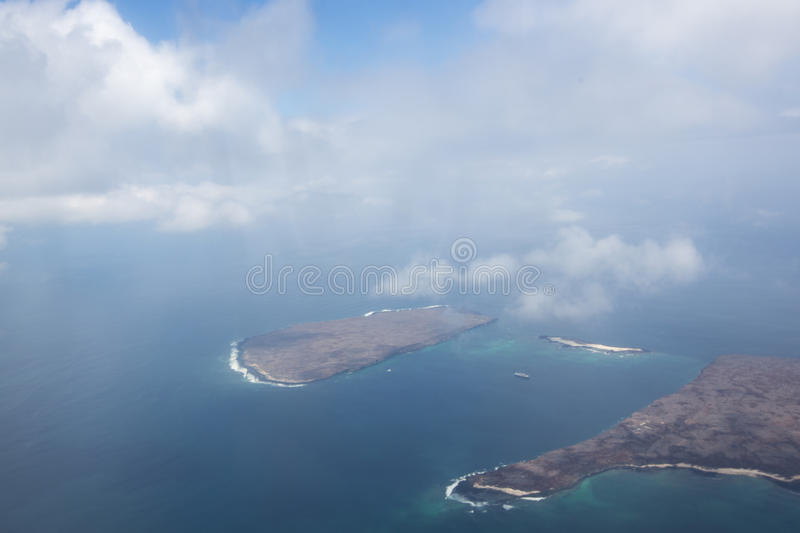 Aerial view of the Galapagos Islands, Ecuador royalty free stock photography
