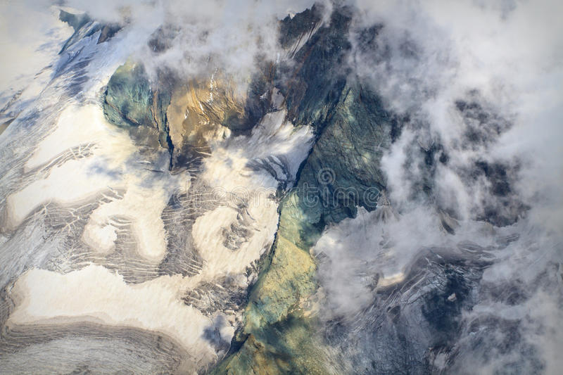 Download Aerial view of Glacier stock photo. Image of altitude - 21543372