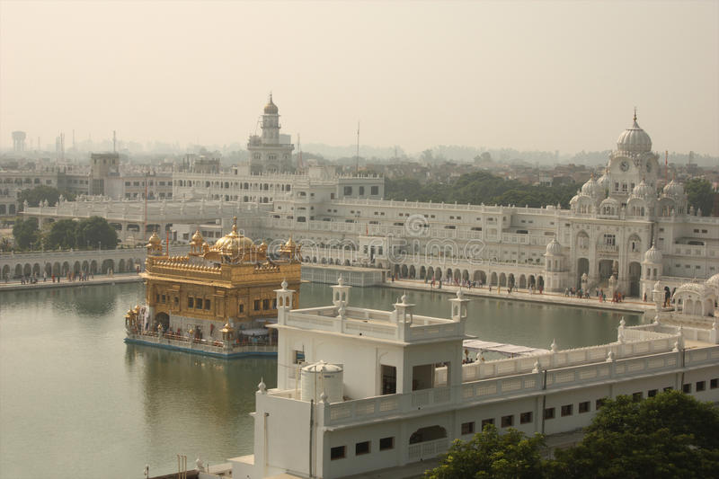 Aerial view of the Golden Temple, Amritsar royalty free stock photography