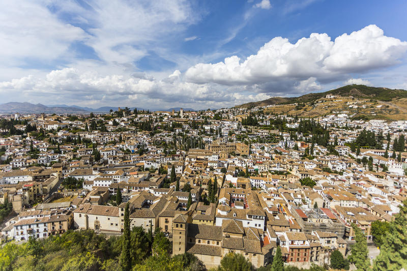 Aerial view of Granada. Spain stock image
