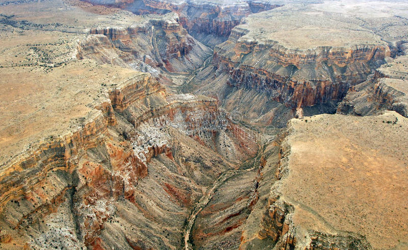 Grand Canyon. An aerial view of the grand canyon stock photography