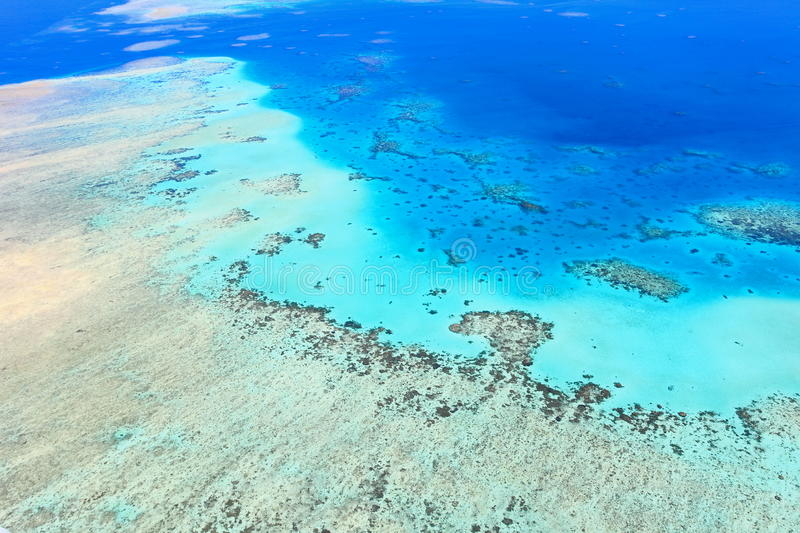 Aerial View Of The Great Barrier Reef Stock Images
