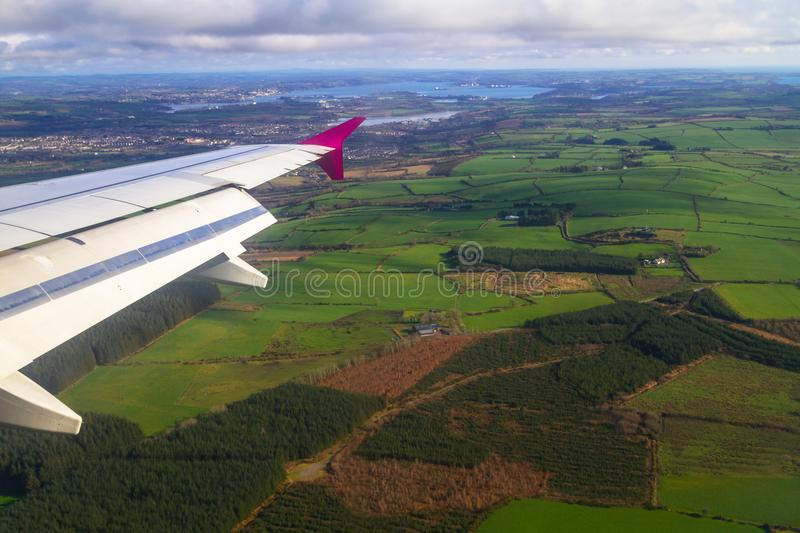 Aerial view of Ireland royalty free stock photography