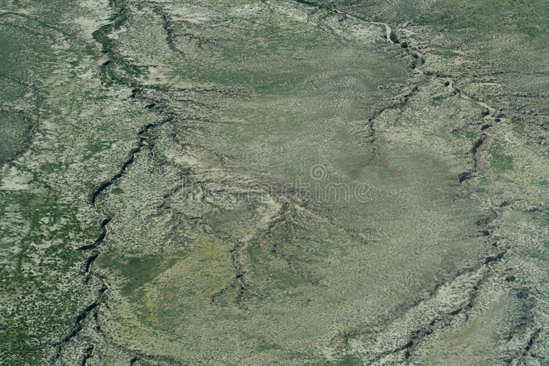 Aerial view of the ground stock image