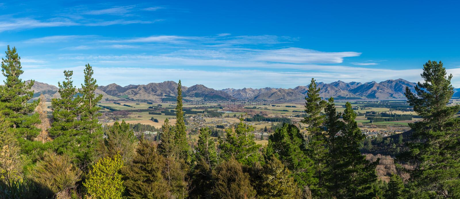 Aerial view of Hanmer Springs royalty free stock photo
