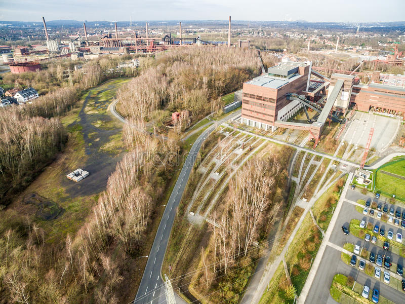 Download Aerial View Of The Heritage Coal Mine Zollverein Editorial Photography - Image: 83710362