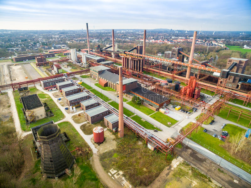 Download Aerial View Of The Heritage Coal Mine Zollverein Editorial Image - Image: 83711170