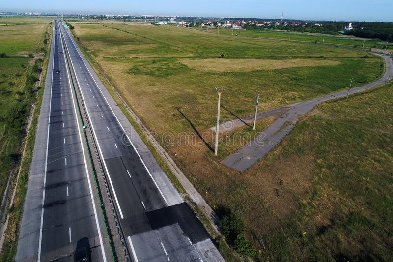 Motorway seen from above stock photography