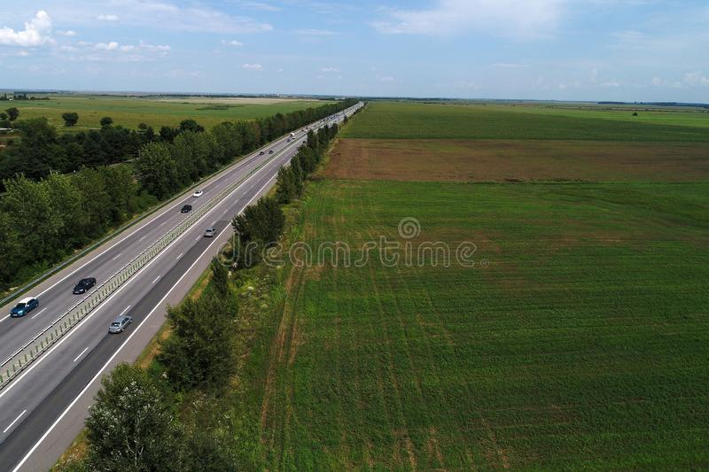 Motorway seen from above royalty free stock image