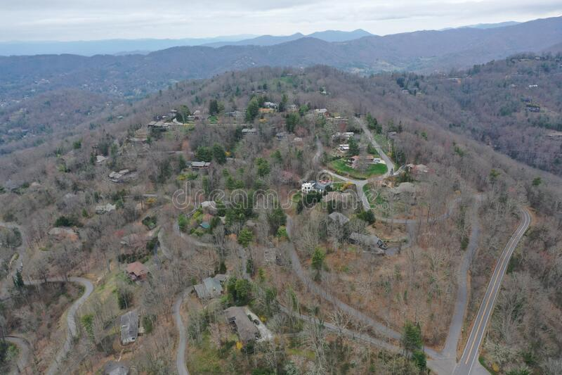 Mountain Top neighborhood in Asheville royalty free stock images