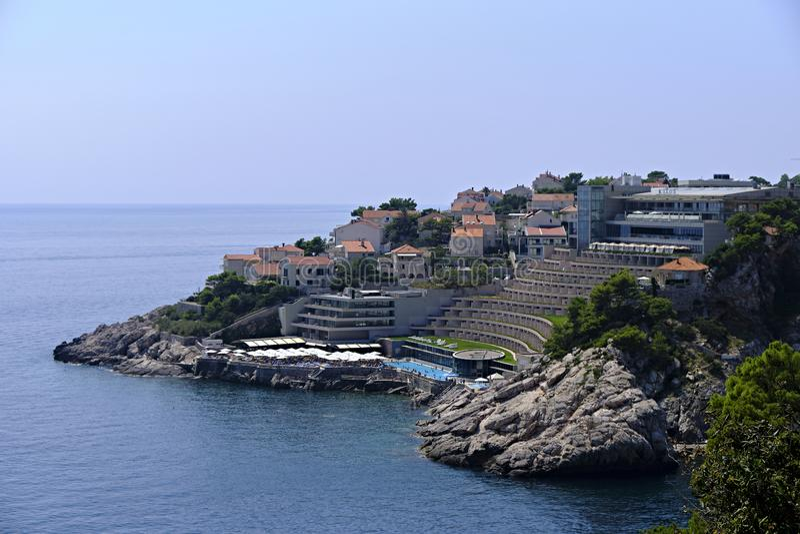 Dubrovnik resort on Adriatic Sea stock photos