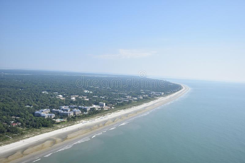 Aerial View of Hilton Head stock images