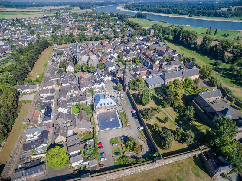Download Aerial View Of The Historic Town Zons Stock Photo - Image: 83709650