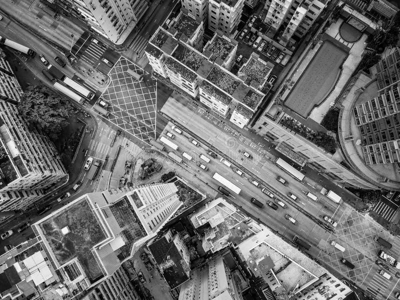 aerial view of hong kong downtown royalty free stock photos