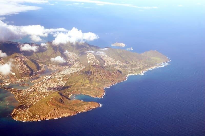 Aerial View of Honolulu Hawaii royalty free stock images