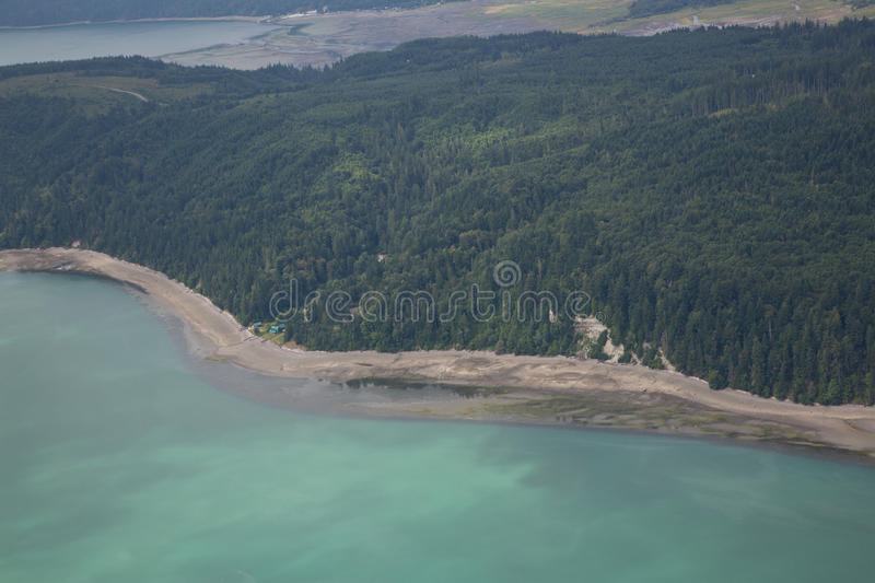 Download Aerial View of Hood Canal stock photo. Image of sound - 25971880