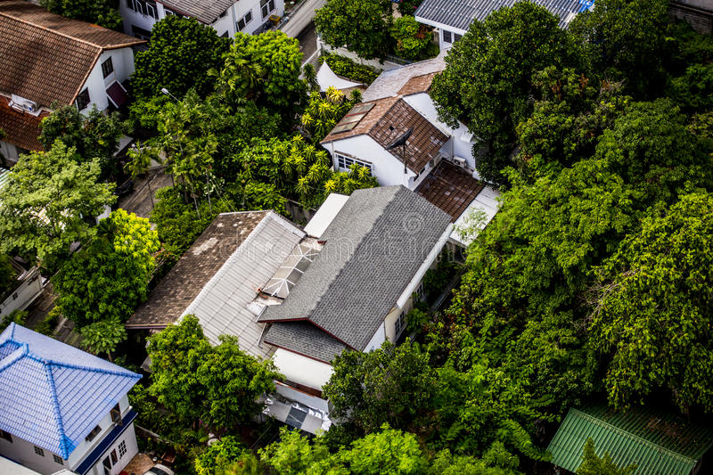 Download Aerial View of Houses stock photo. Image of city, neighborhood - 76359330