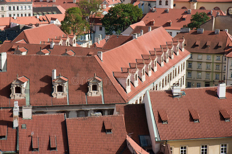 Download Aerial View Of Houses In Praha, Czech Republic Stock Image - Image: 22564307