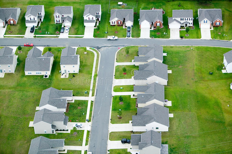 Aerial View Of Housing Developmen Royalty Free Stock Images